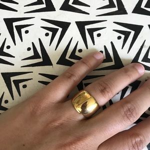 Vintage gold vermeil ring